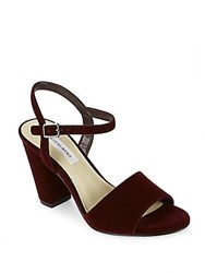 Saks Fifth Avenue Mag Ankle Strap Pumps Wine