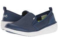 Ryka Neve Jet Ink Blue Lime Shock White Women's Shoes