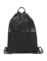 Michael Kors Flat Drawstring Backpack Black