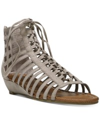 Carlos By Carlos Santana Cornelia Gladiator Lace Up Wedge Sandals Women's Shoes Doe