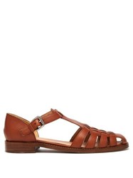 Church's Kelsey T Bar Leather Sandals Tan