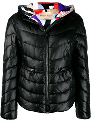 Emilio Pucci Hooded Puffer Jacket Black