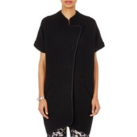 Zero Maria Cornejo Short Sleeve Long Cardigan Black