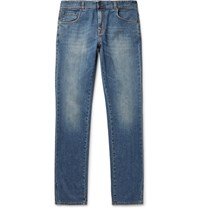 Boglioli Slim Fit Stretch Denim Jeans Blue