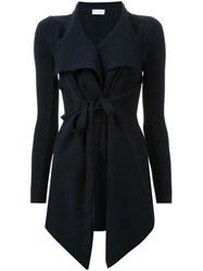 Scanlan Theodore Belted Draped Front Jacket Blue