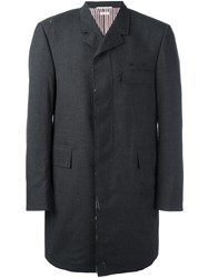 Thom Browne 'Chesterfield' Overcoat Grey