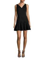 Antonio Berardi V Neck Flare Dress Black