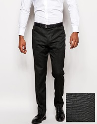 Asos Slim Fit Suit Trousers In Geo Design Charcoal