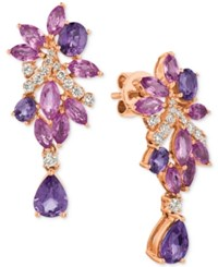 Le Vian Precious Collection Multi Sapphire 4 3 4 Ct. T.W. And Diamond 3 8 Ct. T.W. Drop Earrings In 14K Rose Gold