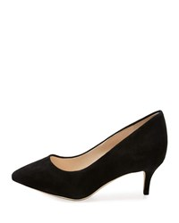 Cole Haan Vesta Grand Suede Point Toe Pumps Black