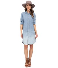 Lucky Brand Dip Dye Shirtdress Point Arena Dip Dye Women's Dress Blue