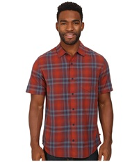 Toadandco Coolant S S Shirt Picante Men's Short Sleeve Button Up Red