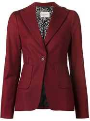 Dorothee Schumacher Classic Fitted Blazer Red