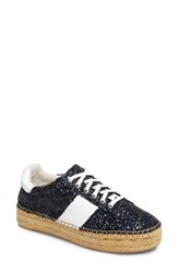 Marc Fisher Women's Ltd Margo Espadrille Sneaker Navy White