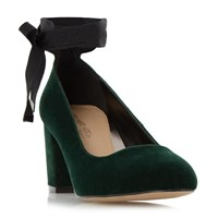 Head Over Heels Avandra Bow Tie Detail Court Shoes Green