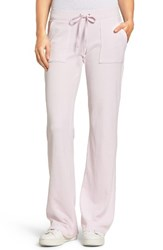 Juicy Couture Women's Del Rey Velour Track Pants Peek A Boo