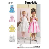 Simplicity Children's Dresses Sewing Pattern 8351 A