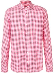 Massimo Piombo Mp Gingham Check Shirt Red