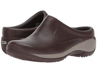 Merrell Encore Q2 Slide Leather Espresso Clog Shoes Brown