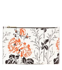 Victoria Beckham Small Simple Printed Pouch White
