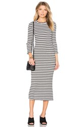 Monrow Stripe Sweater Dress White
