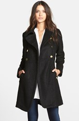 Women's Guess Double Breasted Boucle Cutaway Coat
