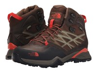 The North Face Hedgehog Hike Mid Gtx Morel Brown Radiant Orange Women's Hiking Boots