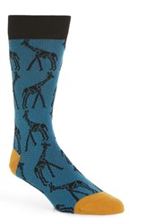 Ted Baker London Giraffe Print Socks Bright Blue