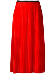 By Malene Birger Miqiau Pleated Skirt Red