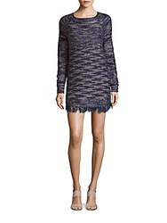 Raga Knitted Long Sleeve Sheath Dress Multicolor