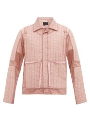 Craig Green Quilted Panel Shell Jacket Pink