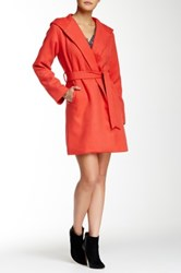 Lavand Hooded Coat Red