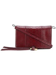 Stella Mccartney Snake Effect Mini Bag Red