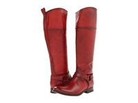 Frye Melissa Harness Inside Zip Burnt Red Soft Vintage Leather Cowboy Boots