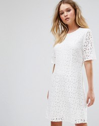 Selected Lace Dress White