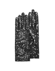 Forzieri Women's Black Sequin Gloves