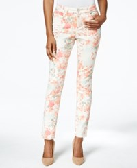 Charter Club Tummy Slimming Floral Print Ankle Skinny Jeans