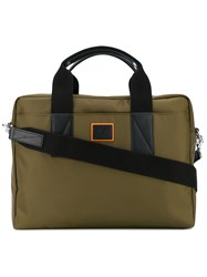 Paul Smith Ps By Classic Laptop Bag Men Leather Nylon One Size Green