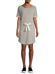 Saks Fifth Avenue Tie Waist Terry Dress Heather Grey