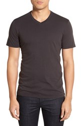 Men's Velvet By Graham And Spencer 'Samsen' V Neck T Shirt Exhaust Grey