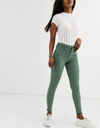 Urban Bliss Alila Skinny Jeans With Rips Green