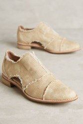 Anthropologie All Black Cutout Oxfords Taupe 40 Euro Oxfords