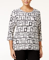 Jm Collection Plus Size Jacquard Printed Top Only At Macy's Mod Angles