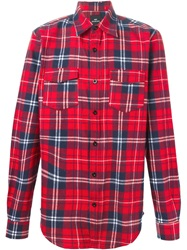 Les Artists Les Art Ists Tartan Print Shirt Red