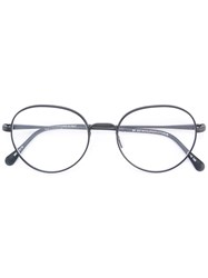 Retrosuperfuture Round Frame Glasses Metal Other Black