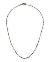Margo Morrison Rhodium Plated Sterling Silver Chain Necklace With Diamond Clasp 24
