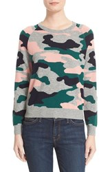 Chinti And Parker Women's Camo Intarsia Wool Cashmere