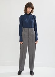 Isabel Marant Hami High Waisted Loose Wool Trouser Grey