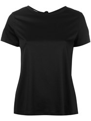 Helmut Lang Open Back T Shirt Women Cotton Xs Black