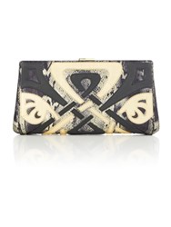 Biba Wow Frame Clutch Bag Black Gold